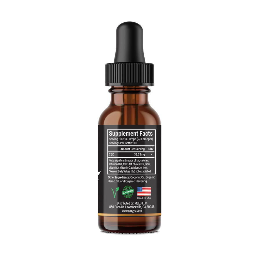 Organic CBD Oil: 500mg CBD, Mint Flavor 8