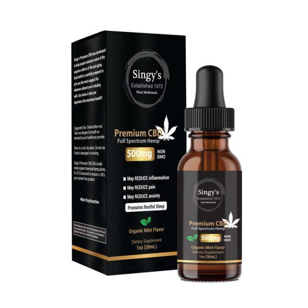 Organic CBD Oil I 500mg CBD I Mint Flavor